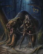 This class doesn't usually have a bear as animal companion but maybe you can convince your DM