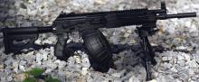 An up and coming squad automatic weapon that is expected to become the standard, replacing the RPK-74.