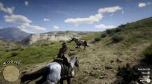 Lasso and tame wild horses in Red Dead Redemption 2