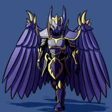 An artist's depiction of the armor of the game's creator