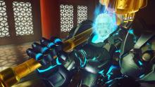 Ghost Reinhardt hefting his giant gold hammer