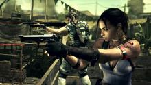 Jill Valentine teams up with Sheva Alomar to take out zombies.