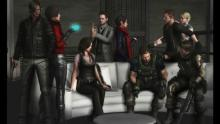 All the playable characters in the game, except for Simmons. Agent is another playable character to pick on Ada's scenario.