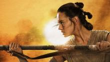 Rey as she appears in The Force Awakens