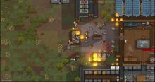 A fire breaks out in Rimworld