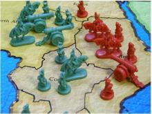 Battle between Risk minis