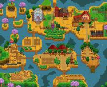 With the addition of different farm types, the riverland farm was put into the game. Allowing for fishing on the farm!