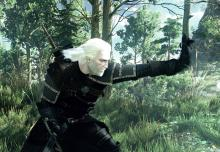 Geralt looking spiffy in his new armor.