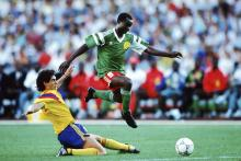 This Cameroonian striker is one of Africa's most famous great footballers.