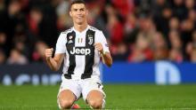 Ronaldo celebrating yet another goal.