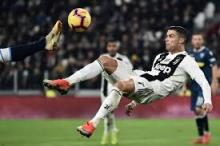 Cristiano Ronaldo takes on the difficult bicycle kick to score a goal for Juventus
