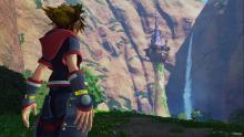 Sora goes into repunzels castle