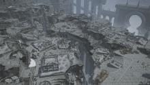Ruins of Ishgard before the series of challenges to rebuild it.