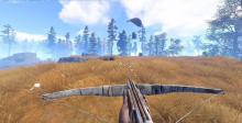 Rust will start you with absolutely nothing. As you survive though you'll craft weapons and other resources you can use for your survival.