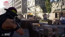 In-game screenshot of what firing the Ruthless exotic looks like.