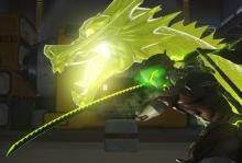 Genji running with dragonblade