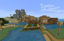 This survival seed starts off in a village with plenty of supplies