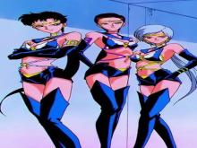 The Sailor Star Fighters came to earth in search of their Princess Kakyuu, they disguised themselves as women in a boy band, because their songs were focused around finding their princess. In the Anime, they were transformed into young men in a boy band and turned into women when they tapped into their Sailor Star Fighter powers, since only women can be Sailor Senshi.