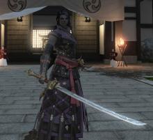 A Roegadyn Samurai
