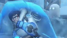 Mei turns into an ice block when she is scared by Snowball.