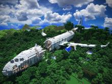 Looking for an interesting survival map? Find the crashed airplane server!