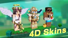 Reimagine the way you think about Minecraft skins because MCPE has concepts for 4D skins!