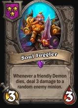 Upgraded Soul Juggler now does 3 damage twice, rather than 6 damage once.
