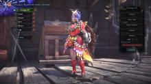 A hunter is prepared for the spring with butterfly armor