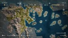 This detailed map allows for players to freely navigate the world of Assassin's Creed Odyssey.