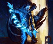 A Mage conjuring arcane runes. Don't ask me how to read them.