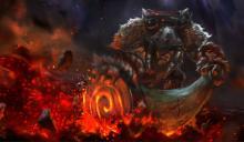 Earthshaker empowering his totem to strike down his foes.