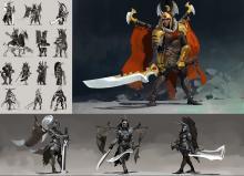 The original concept art for Legion Commander