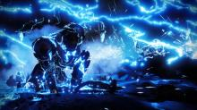 A Titan slams and unleashes his lightning.