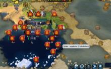 A literal army of Spanish inquisitors in Civ 6