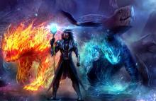 Who possesses the power of the 4 elements can summon elemental creatures to come for their aid.