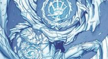 Iceman Firing off one of his Chilling Blasts