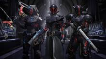 Guardians decked out in Black Armory gear.