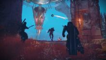 A fireteam fights at a forge