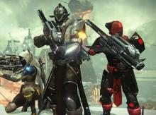 This is a Destiny 1 screenshot of Guardians with Gjallahorns, something I never got :(