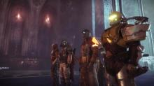 A team of Guardians ready for a match of Gambit