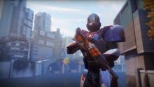 A Titan with their pulse rifle