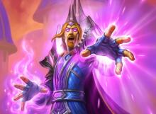 This powerful wizard recasts a random spell you have played at the end of each turn