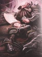 A Dwarf Cleric heals an ally