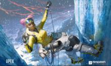 Fan art of Lifeline climbing an icy rockface. (Credit: 2buiArt)