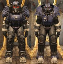Mothman-styled cosmetics at times appear in the Atom Shops rotating stock. This includes Power Armor paint dedicated the Big M himself.