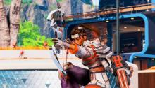 Rampart aims down sights with her bow