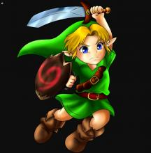 There's fan art abound of Young Link