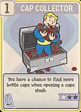 You have a chance to find more caps when searching a caps stash