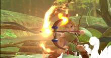 This version of Link shoot powerful fire arrows.