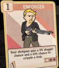 Your shotguns gain a 5% stagger chance and a 10% chance to cripple a limb
